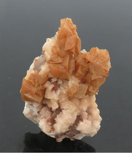 Picture of Dolomite on Calcite (Tsumeb, Namibia)