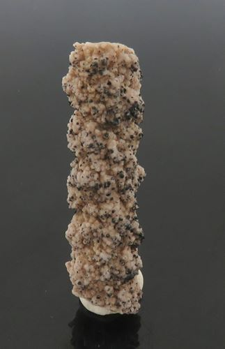 Picture of Groutite on Calcite (Kalahari Manganese Fields, South Africa)