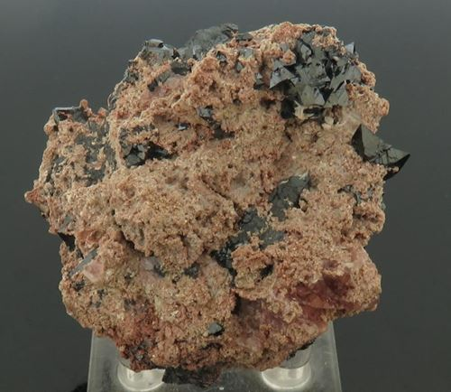 Picture of Hausmanite with Datolite (Kalahari Manganese Fields, South Africa)