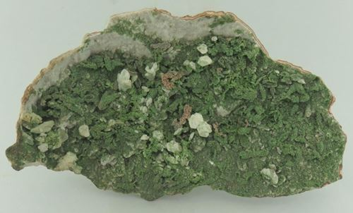 Picture of Calcite (Cuprian) on Dolomite (Tsumeb)