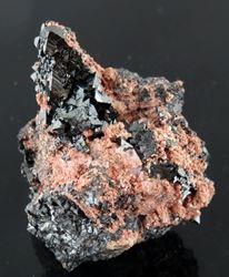 Picture of Hausmanite with minor Datolite (Kalahari Manganese Fields, South Africa)