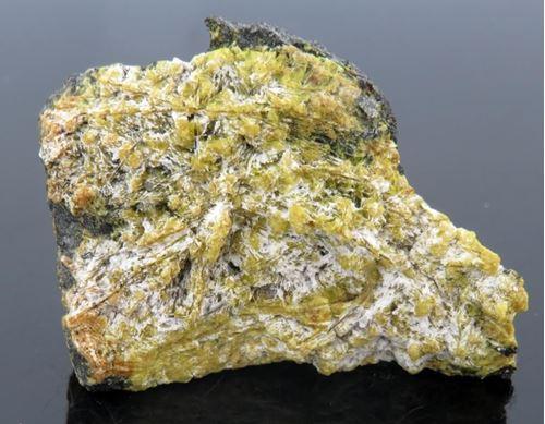 Picture of Ettringite with Calcite (Kalahari Manganese Fields, South Africa)
