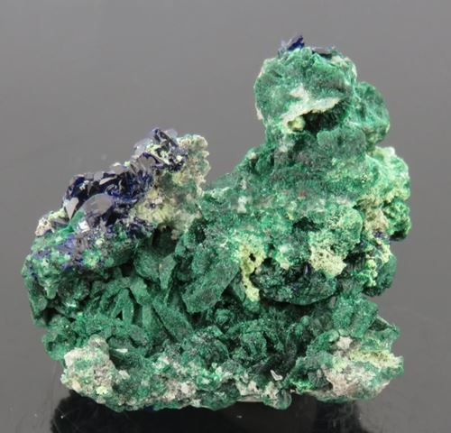Picture of Malachite after Azurite (Tsumeb, Namibia)