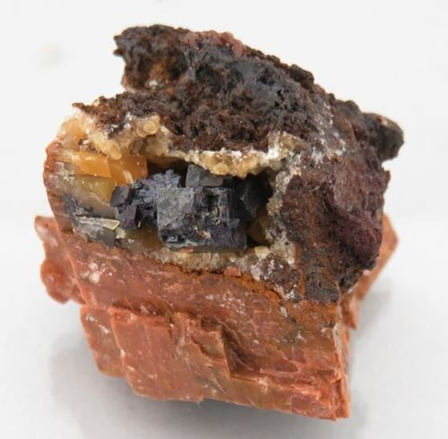 Picture of Cuprite on Calcite (Namibia)